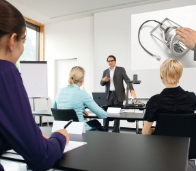 training efficiency with Extron and WolfVision Visualizers