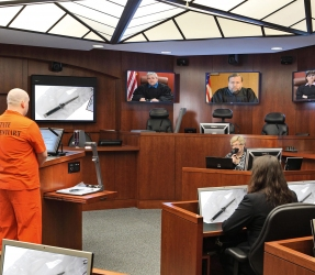 Telepresence in courtroom