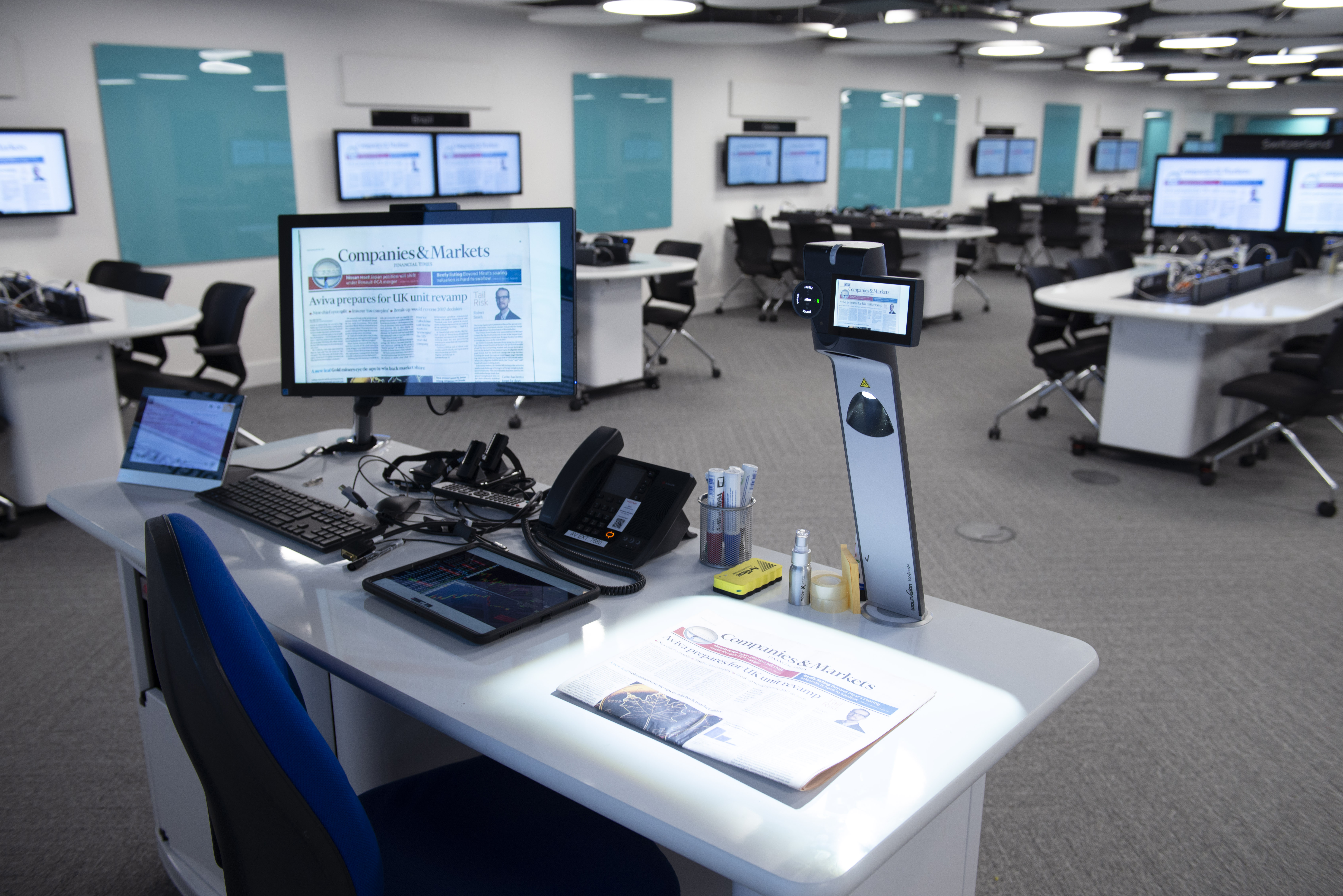 WolfVision vSolution MATRIX active learning classroom collaboration system, installed at London Business School.