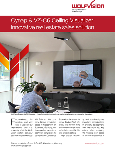 Cynap + Visualizer case study: Real estate presentation & collaboration solution