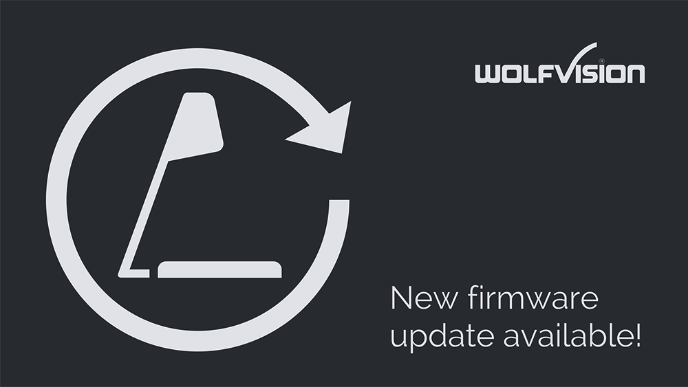 WolfVision Visualizer firmware updates