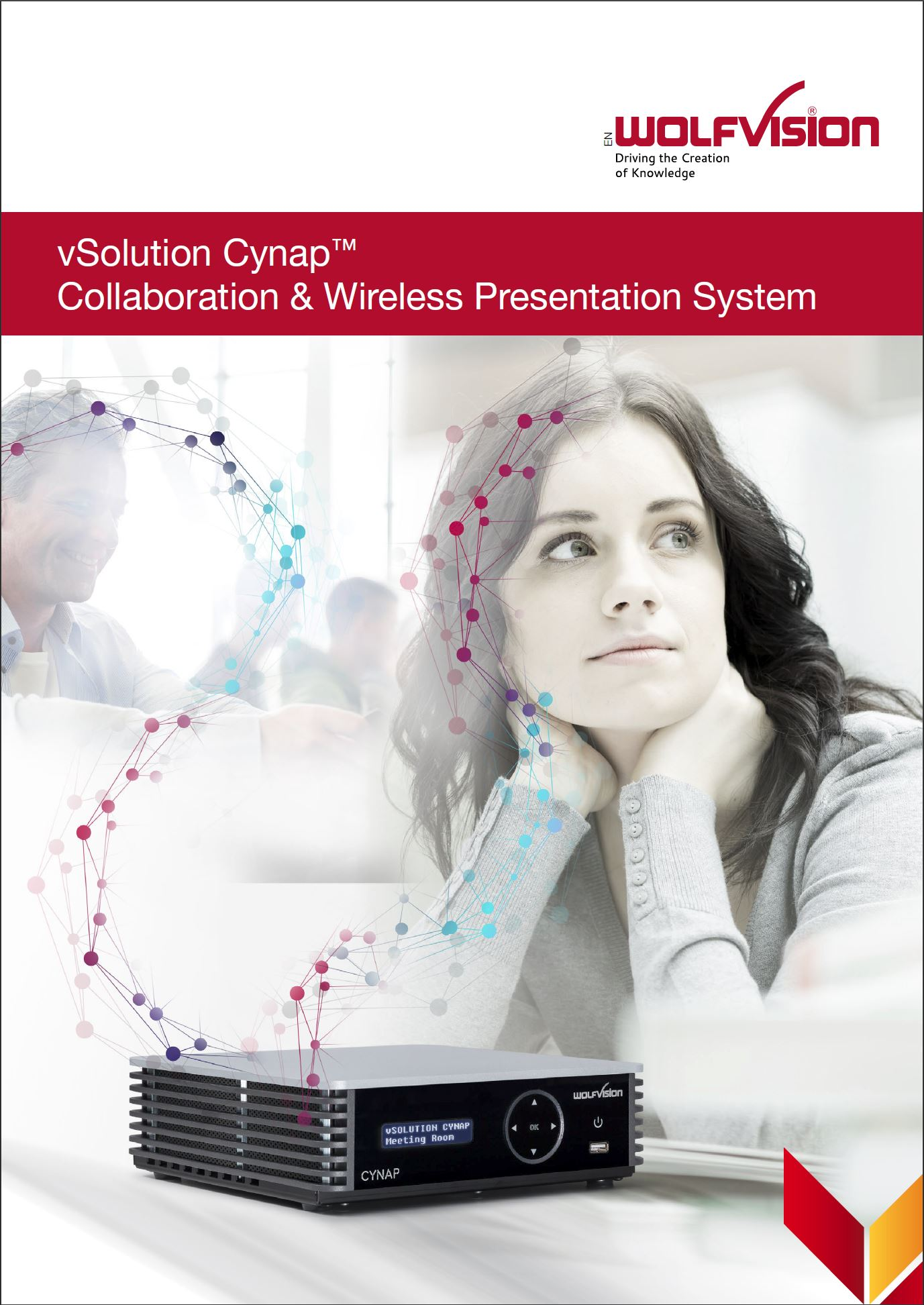 WolfVision Cynap presentation and collaboration system brochure